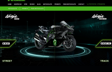Site Prezentare Motociclete Kawasaki