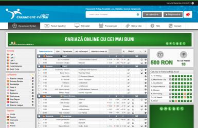Platforma Online cu statistici si clasamente live din fotbal