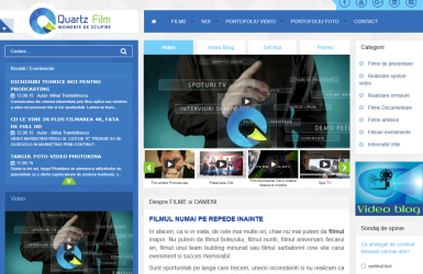 Realizare WebSite Quartz Film - Studio de film si fotografie in Bucuresti