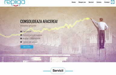 Realizare WebSite REPLIQA – Agentie de marketing strategic si vanzari tactice