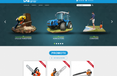 Website for Agricultural Tools Company - Diavik Group