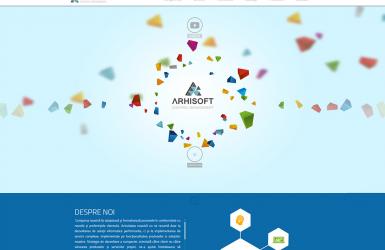 Website de Prezentare servicii software - Arhisoft