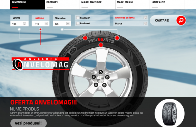 Online store with Tires - Anvelomag