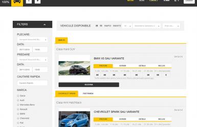 Website si Aplicatie administrare firma de Inchirieri Masini - Rentacar100