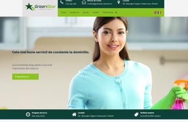 Website de Prezentare Servicii de Curatenie - GreenStar Services