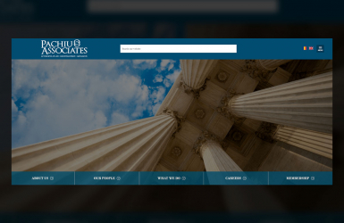 Presentation Website of the Law Office - Pachiu & Associates