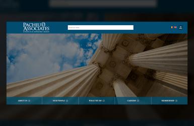 Website de Prezentare Casa de Avocatura - Pachiu si Asociatii