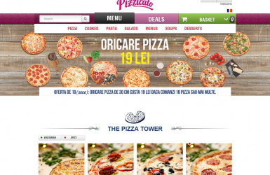 Platforma Comenzi Online - Restaurant cu Livrare la Domicilu - Pizzicato