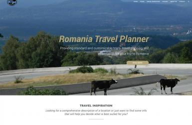 Website de Prezentare Tururi Turistice - Romania Travel Planner