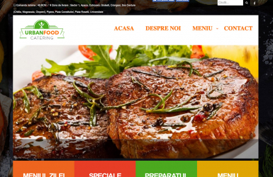 Website de Prezentare Restaurant cu Livrare la Domiciliu - Urban Food Catering