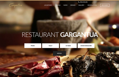 Presentation Website and Integrated Delivery Area - Gargantua Restaurant