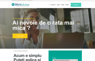 Website de Prezentare Companie de Consultanta Financiara – DSA Advisor