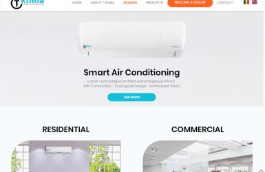 Website de Prezentare Profesional pentru Brandul T-Klima
