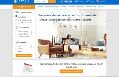 E-commerce Platform & CRM System for Managing Orders – Top Aer Conditionat