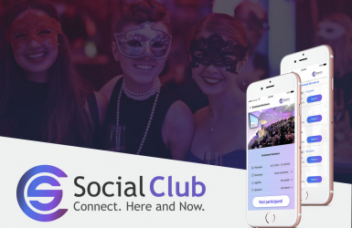 Presentation website for event listing application - Social Club