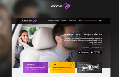 LeoneGo - Landing Page de prezentare pentru Aplicatie Mobile