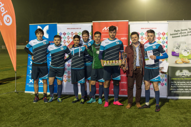 XFactorApp, second place in football competition between companies