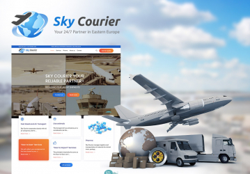 Sky Courier - Website de prezentare Companie de Transport