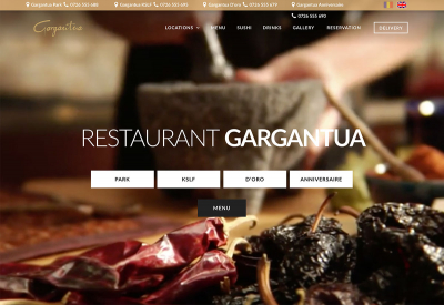 AppMotion | Software Development Company Presentation Website and Integrated Delivery Area - Gargantua Restaurant