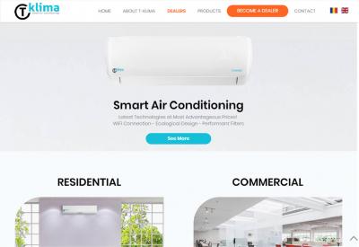 AppMotion   Software Development Company Professional Presentation Website for the T-Klima Brand