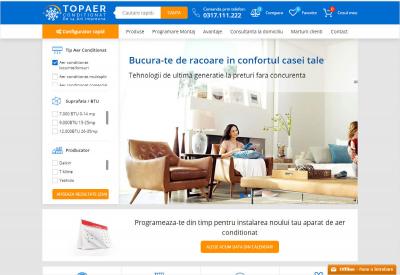 AppMotion - Aplicatii WEB&Mobile | Servicii Software | Custom Platforma Ecommerce & Sistem CRM Administrare Comenzi - Top Aer Conditionat
