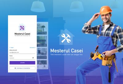 AppMotion - Aplicatii WEB&Mobile | Servicii Software | Custom Mesterul Casei - Aplicatie Mobile Android si iOS Listare Anunturi