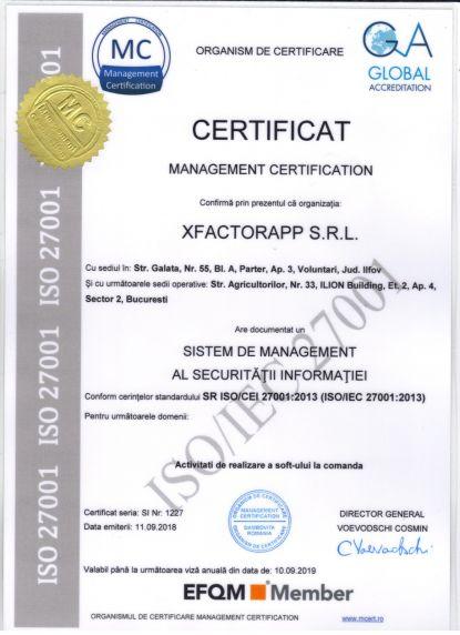 certificat de securitate a informatiei