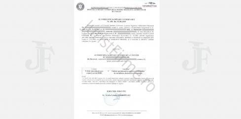Autorizatia DSV pentru DDD (dezinfectie, dezinsectie si deratizare)