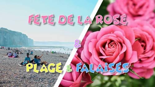 Plage & Fête de la Rose & Falaises normandes