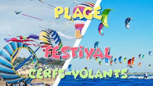 Plage & Festival des Cerf-Volants à Houlgate & Village normand