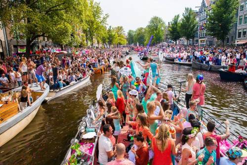 Amsterdam Canal Parade & Street Parties & Gay Pride 2018