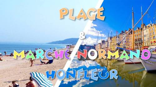 Marché normand Honfleur & Plage de sable, Villers-sur-Mer 29,9€