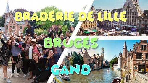 Weekend Braderie de Lille & Bruges & Gent - soldes 79,9€