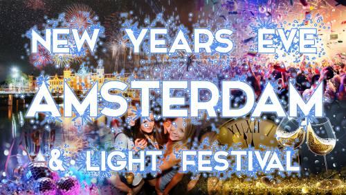Réveillon nouvel an & Light Festival in Amsterdam