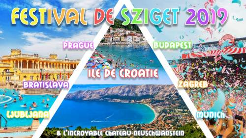 Road trip ☼ Festival Sziget 2019 ☼ Capitales Europe ☼ Plages