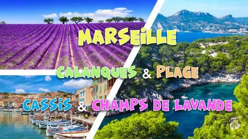 Summer weekend Marseille, Calanques, Champs Lavande, Plage - 3 JOURS