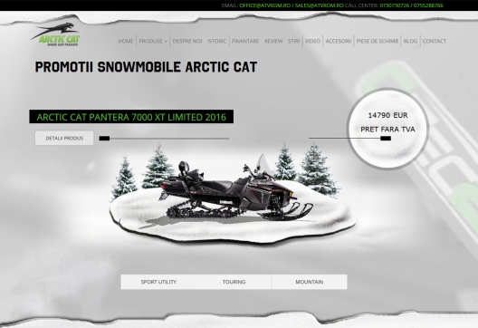 Magazin Online Snowmobile Arctic Cat