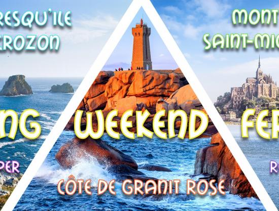 Long weekend férié Mont St-Michel, Côte de Granit Rose & Quimper 2021