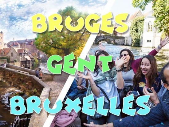 Le week-end du 24+25 juillet, venez découvrir les plus belles villes de la Belgique :Bruxelles, Gand & Bruges (la Venise du Nord)