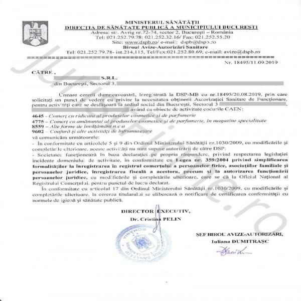 Răspuns oficial DSP - Negatie