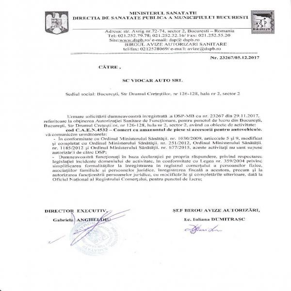 Negație DSP Viocar Auto srl