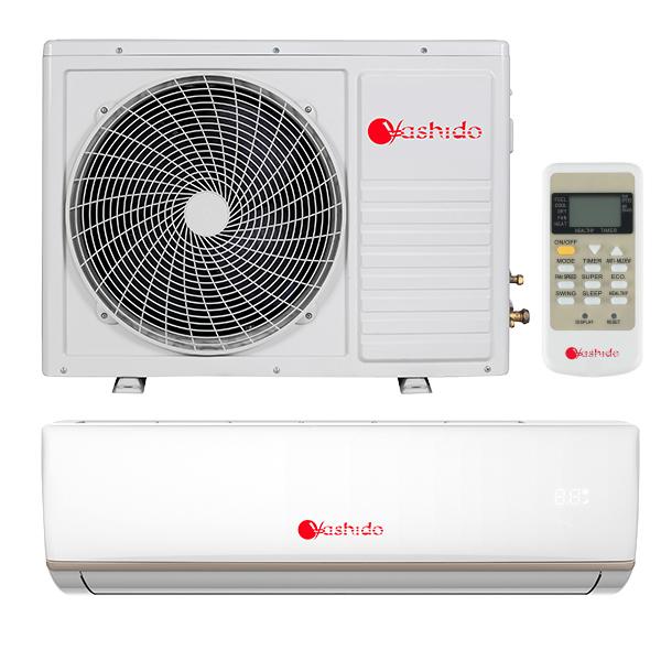 Aparat aer conditionat Yashido AC-12YDO, 12000 btu/h, ionizare, filtru lavabil, tehnologie PFC, silentios, timer, afisaj led, 5 ANI garantie compresor, A++