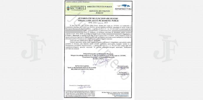 Autorizatie terasa in Sectorul 1