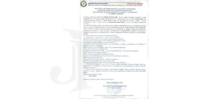 Autorizatii sanitare veterinare