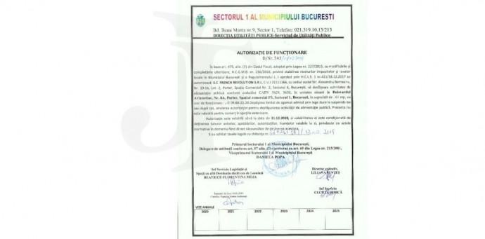 Autorizatia de Functionare 2019